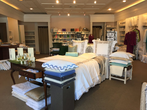 interior of locust valley linen store