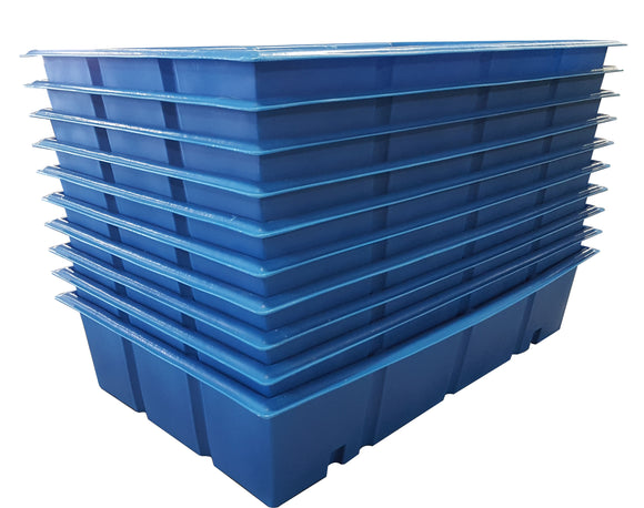 300 Gallon Aquaponic Grow Bed | Aqua Culture | Light Blue | Water Container Store