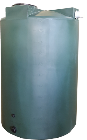 1150 Gallon Rainwater Storage Container | Dark Green | Water Container Store