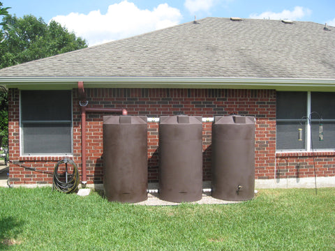 250 Gallon SunShield Rain Harvesting Tank Install - Dark Brown