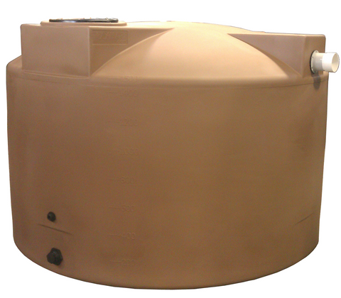 1500 Gallon Rainwater Storage Container | Light Brown | Water Container Store