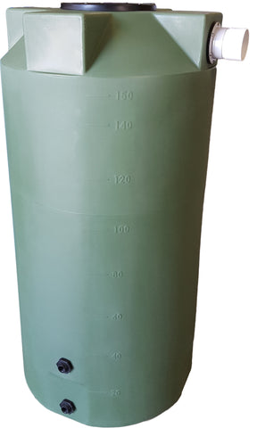 150 Gallon Rainwater Storage Container | Olive Green | Water Container Store