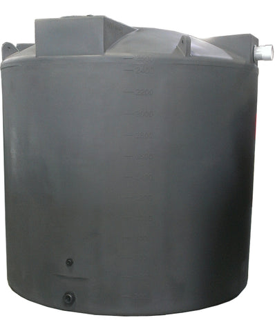 2500 Gallon Rainwater Storage Container | Dark Grey | Water Container Store