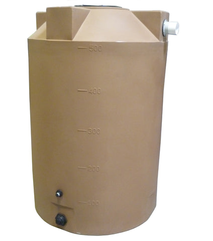 500 Gallon Rainwater Storage Container | Light Brown | Water Container Store