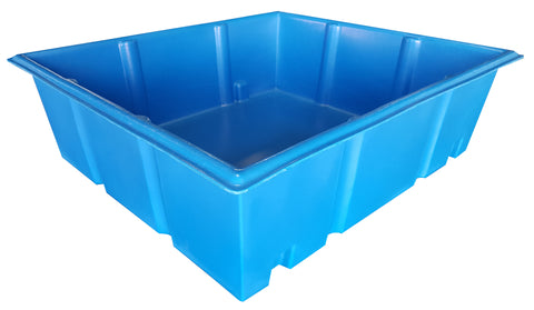 200 Gallon Aquaponic Growbed | Light Blue | Water Container Store