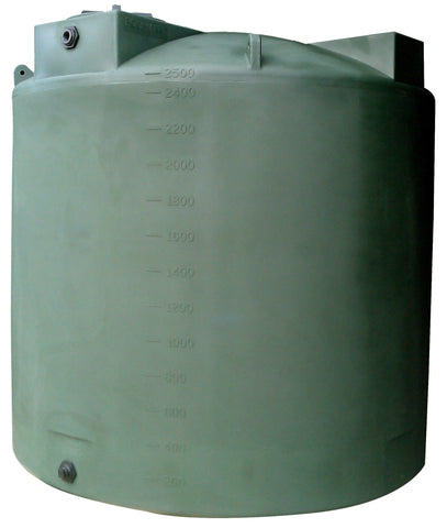 2500 Gallon Water Storage Container | Dark Green | Water Container Store