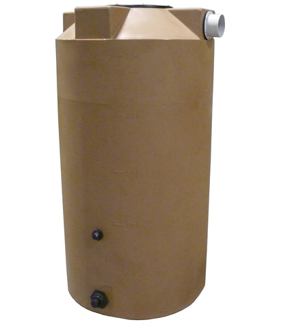 250 Gallon SunShield Rainwater Storage Container | Light Brown | Water Container Store