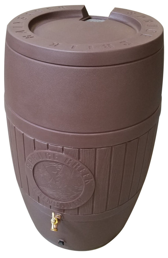 RainSaver 54 Gallon Rain Barrel - Antique Brown - Water Container Store