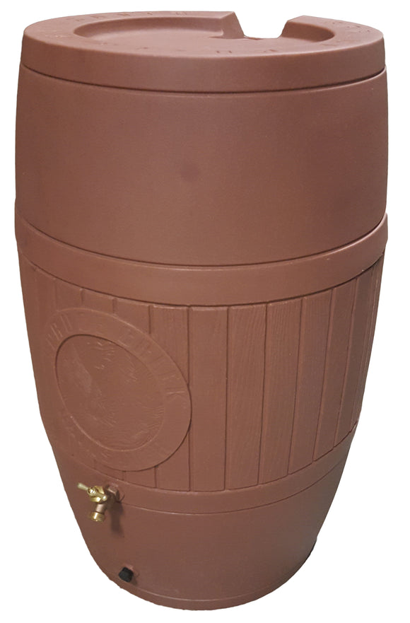 RainSaver 54 Gallon Rain Barrel - Terra Cotta - Water Container Store