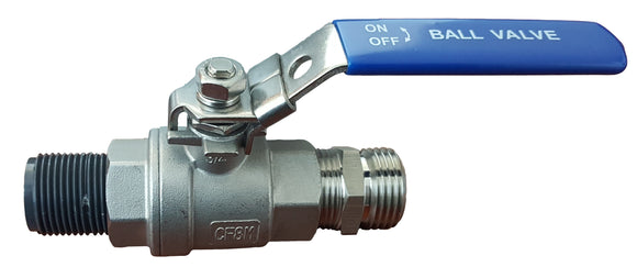 Stainless Lockable Ball Valve Assembly - Water Container Store