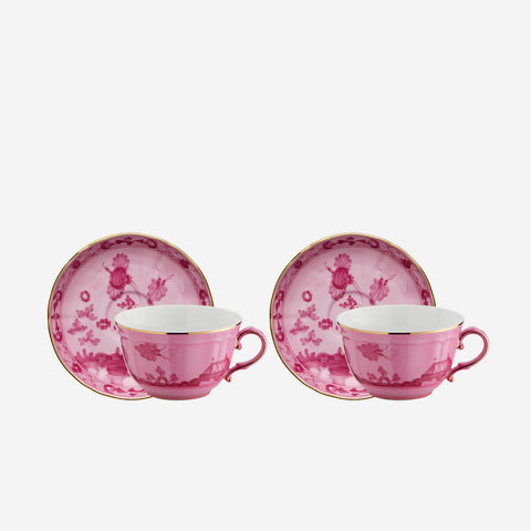 Oriente Italiano Teacup & Saucer Porpora - Set of Two Bonadea Richard Ginori