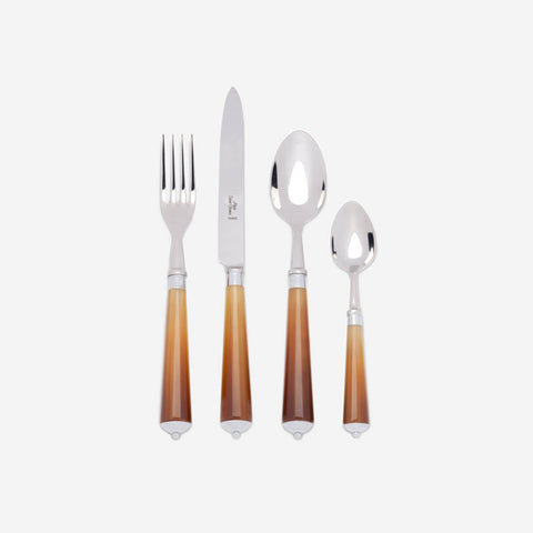 Alain Saint Joanis - Julia Dark Horn 4-Piece Cutlery Set