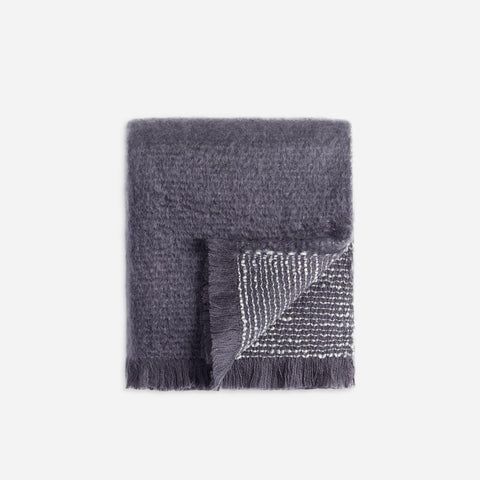 LObjet Seville Bouclé Throw Grey