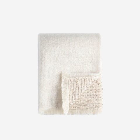 LObjet Seville Bouclé Throw Ivory