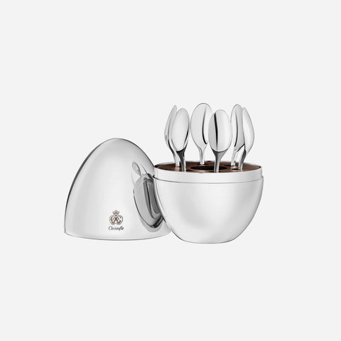 MOOD 6-Piece Silver Plated Espresso Spoons Set