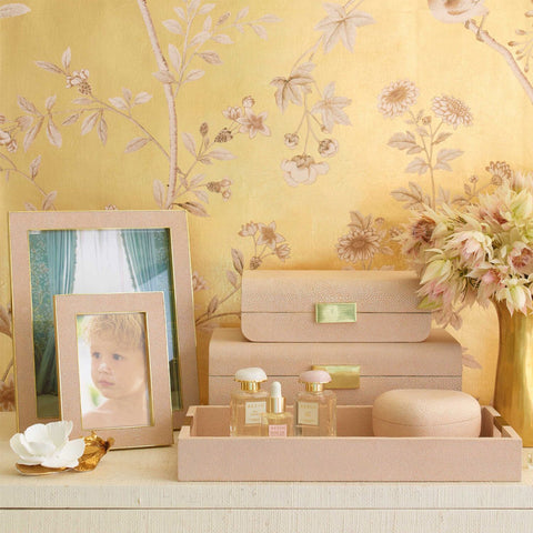 Bonadea - Shagreen Heart Box Blush Aerin