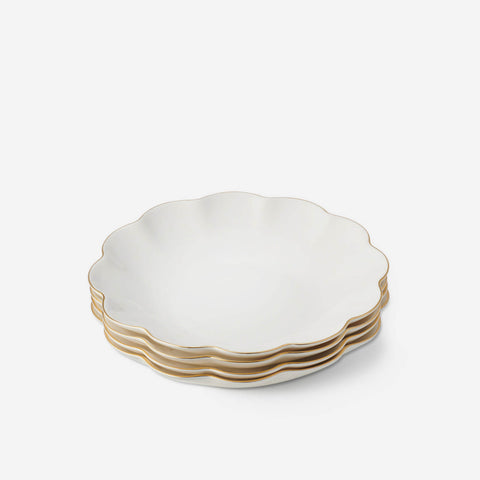AERIN Scalloped Appetizer Plate (Set of 4)