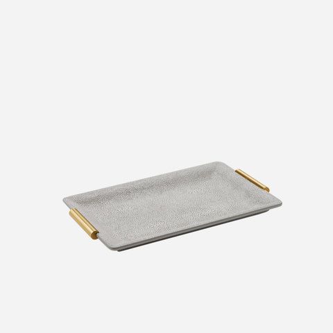 Shagreen Vanity Tray Dove