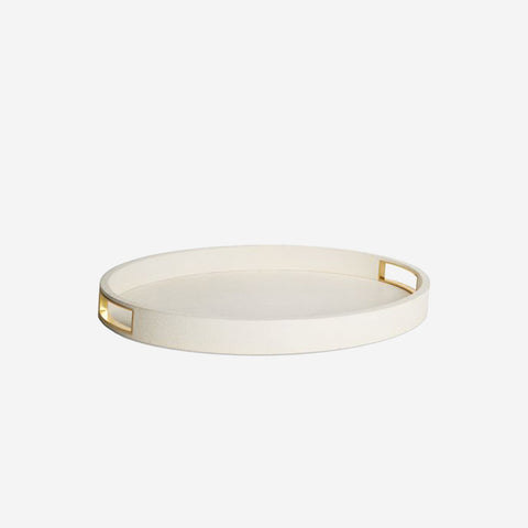 Shagreen Modern Cocktail Tray Cream