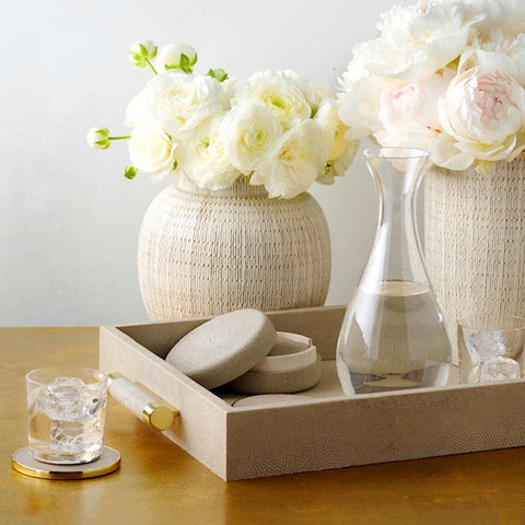 Aerin classic Shagreen Set of Four Coasters - Bonadea