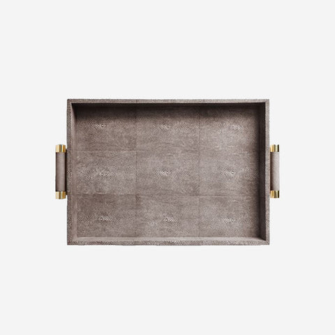 Classic Shagreen Serving Tray Chocolate
