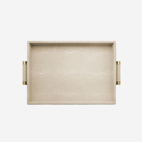 Classic Shagreen Serving Tray Wheat bonadea aerin