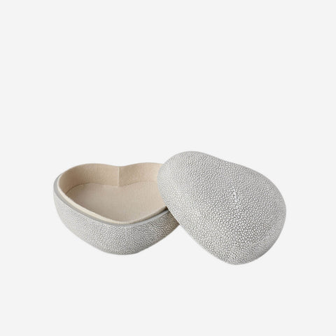 Shagreen Heart Box Dove
