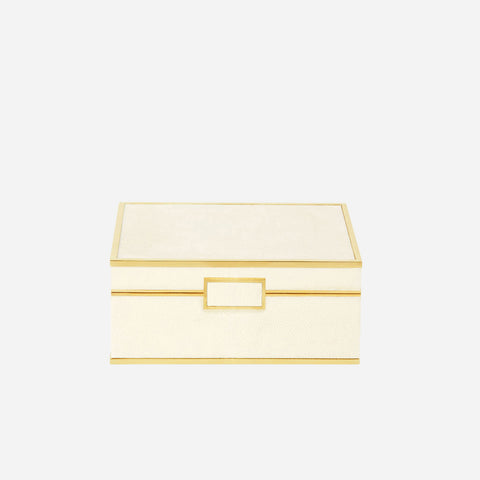 Classic Shagreen Medium Box Cream