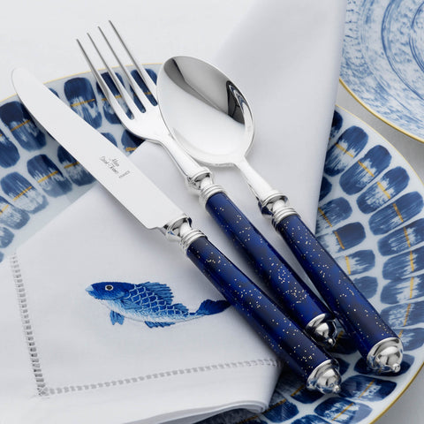 Alain Saint Joanis Seville Midnight Blue 4-Piece Cutlery Set - BONADEA