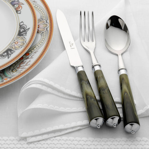 Alain Saint-Joanis Julia Green Marble 2-Piece Carving Set -BONADEA