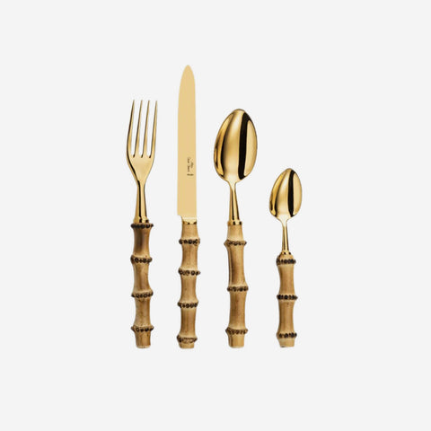 Bamboo Gold 4-Piece Cutlery Set