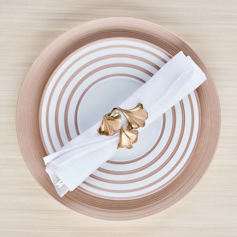 Gingko Set of 4 Napkin Rings