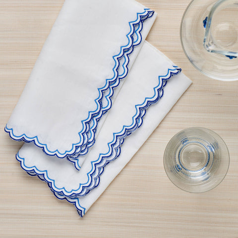 Set of Four Willow Blue Napkins