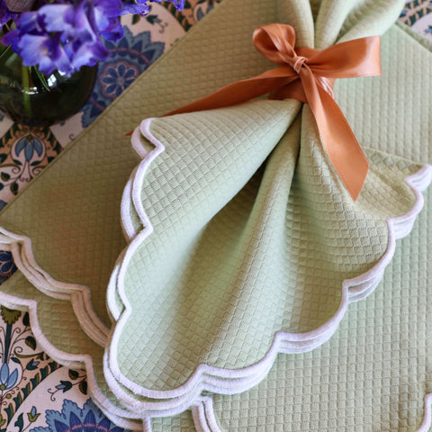 Set of Four Savannah Gardens Green Napkins