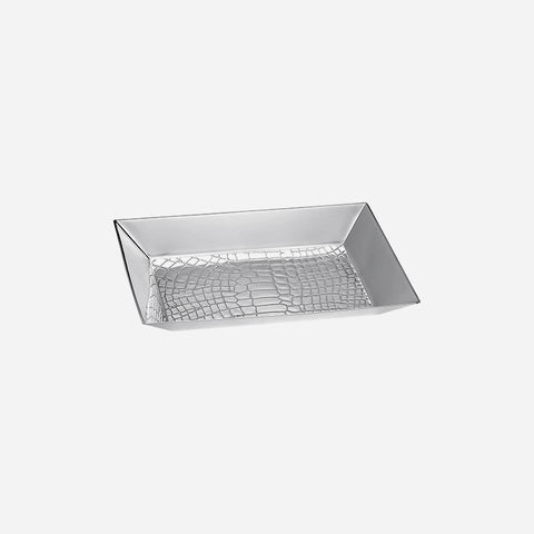 Christofle Croco d'argent Silver Plated Trinket Tray - BONADEA