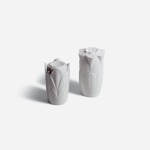 Lladró - Naturo Salt & Pepper Shakers White Porcelain - BONADEA