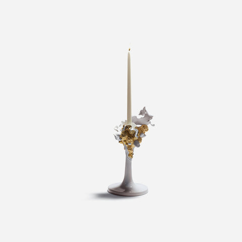 Lladró - Naturo White Porcelain Candle Holder - BONADEA