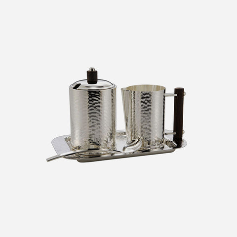 Ebony Silver Plated Breakfast Set