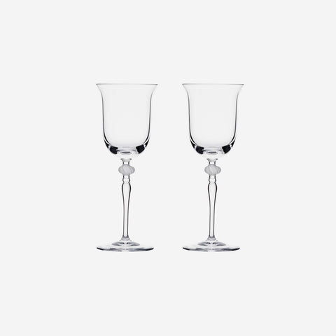 Bloom - Set of Two Crystal White Wine Glasses