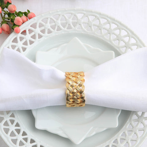 L'Objet Braid Napkin Rings -BONADEA