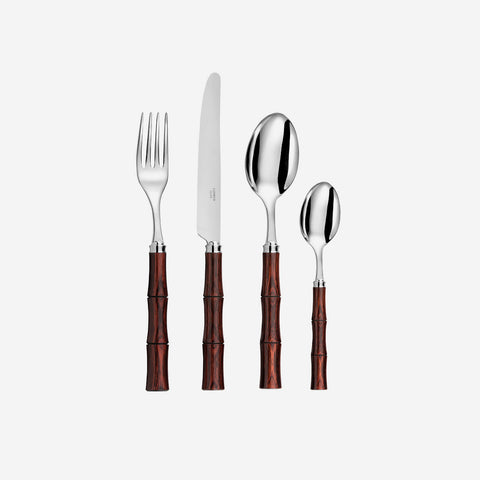 CAPDECO Byblos Cherry Wood 4-Piece Cutlery Set - BONADEA