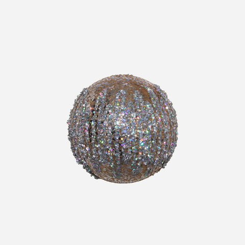 Set of 2 Glitter Embellished Baubles - BONADEA