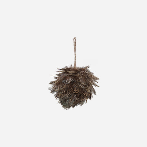 Natural Feather Bauble - BONADEA