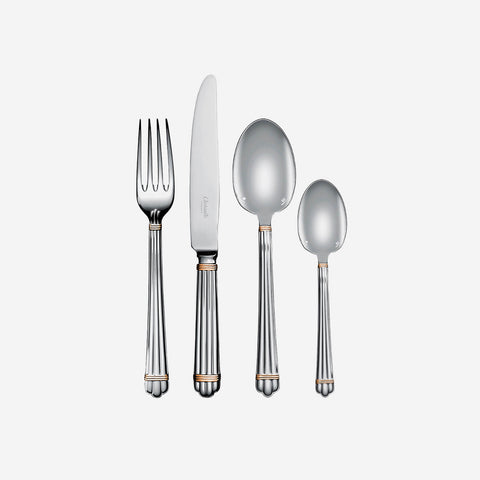 Christofle Aria Silver Plated & Gold Gilded Cutlery Collection -BONADEA
