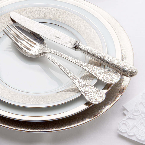 Christofle Jardin d'Eden Cutlery | 4 Piece Silver Plated Cutlery Set