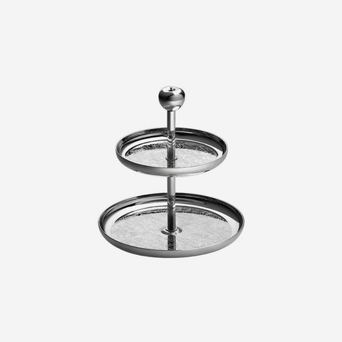 Christofle | Jardin d'Eden Silver-plated Two-Tier Dessert Stand