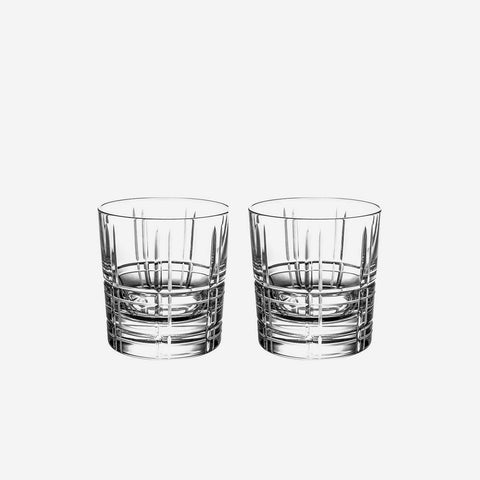 Christofle Scottish - Set of Two Crystal Double Old Fashioned Tumblers