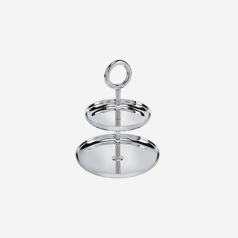 Christofle - Vertigo Silver-Plated Two-Tier Dessert Stand - Buy online at bonadea.com