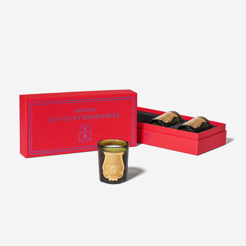 Cire Trudon Odeurs Révolutionnaires Set of 3 Scented Candles -BONADEA