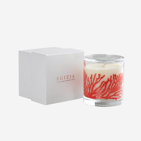 Egizia Aquaria Red Coral Scented Candle -BONADEA